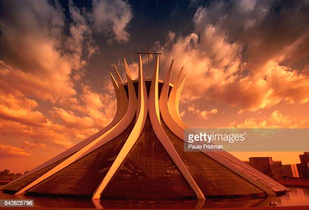 Cathedral Metropolitana designed by Oscar Niemeyer in Brasilia