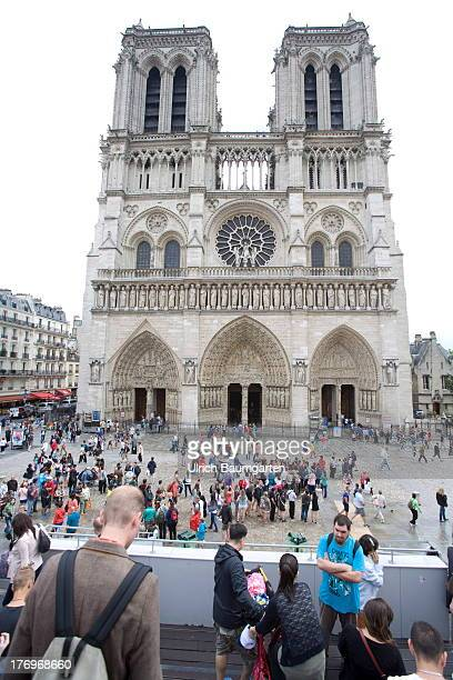 Cathedral Notre Dame in the French capital Paris on August 07 2013 in Paris France