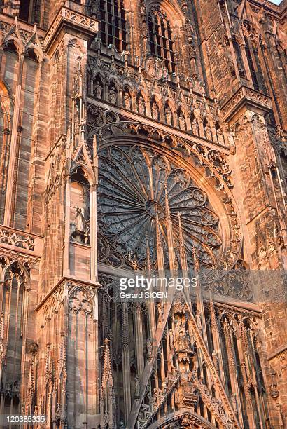 Cathedral NotreDame in Strasbourg France The large rosette