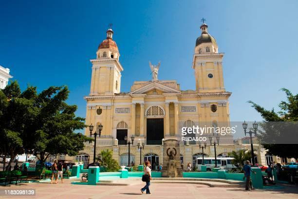 Cathedral Nuestra Senora de la Asuncion. Parque Cespedes: Santiago de Cuba: Cuba Island: West Indies: Central America.