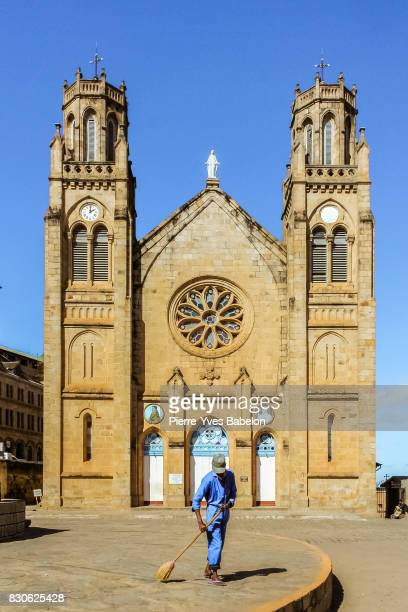 cathedral of andohalo of antananarivo, madagascar - pierre yves babelon stock pictures, royalty-free photos & images