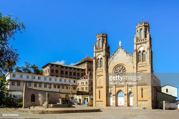 cathedral of andohalo of antananarivo - antananarivo stock photos and pictures