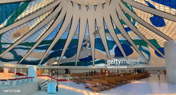 "cathedral of brasilia (catedral metropolitana nossa senhora aparecida) - ""markus daniel"" fotografías e imágenes de stock"