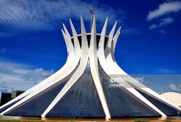 ブラジル ブラジリア大聖堂 - ブラジリア連邦直轄区 ストックフォトと画像