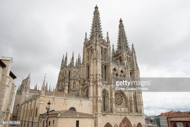 Cathedral of Burgos in a cloudy day