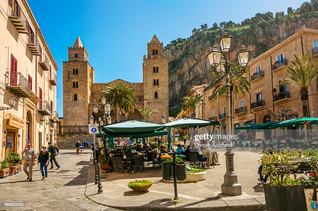 Cathedral of Cefalu in Sicily : Stock Photo