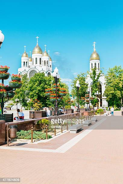 cathedral of christ the saviour in kaliningrad, russia - kaliningrad stock pictures, royalty-free photos & images