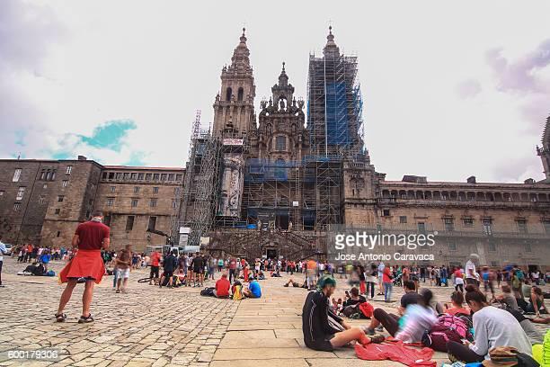 cathedral of compostela - cattedrale di san giacomo a santiago di compostela foto e immagini stock