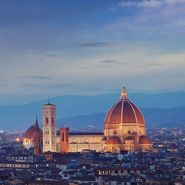 Cathedral Of Florence At Dusk Wall Art