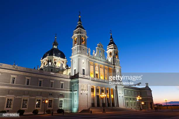 """cathedral of """"la almudena"""" (madrid. spain) - royal cathedral stock pictures, royalty-free photos & images"""