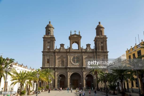cathedral of las palmas de gran canaria - las palmas cathedral stock photos and pictures