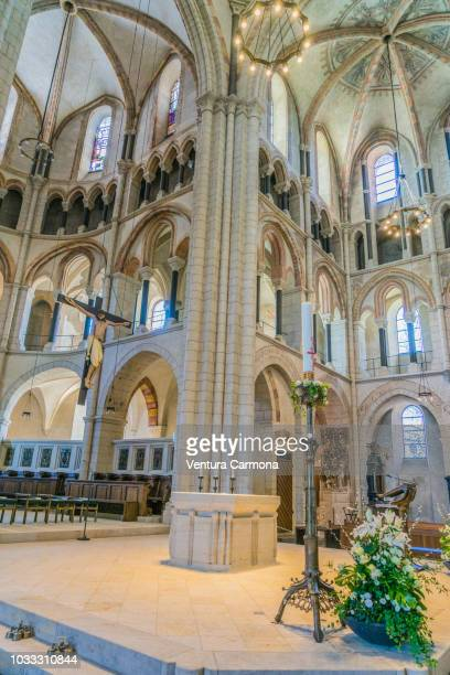 cathedral of limburg an der lahn - nave stock pictures, royalty-free photos & images