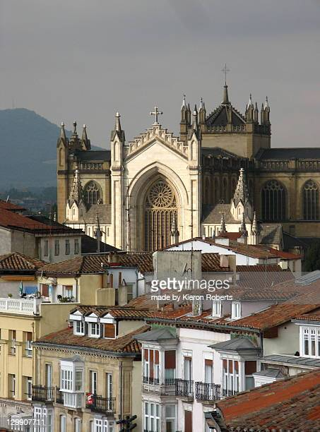 cathedral of mary immaculate, vitoria - ビトリア=ガステイス ストックフォトと画像