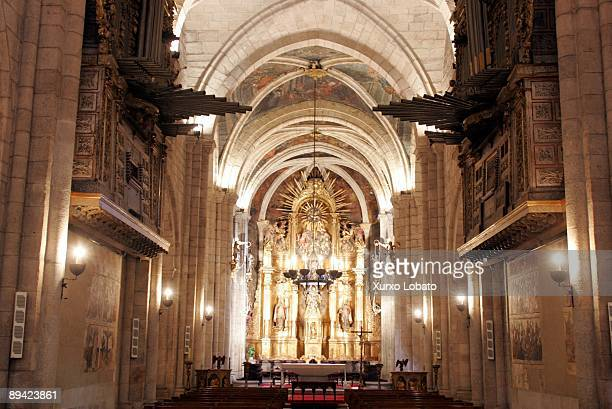 Cathedral of Mondonedo (Lugo). Interior of the cathedral,built in the XIII century in Gothic style.