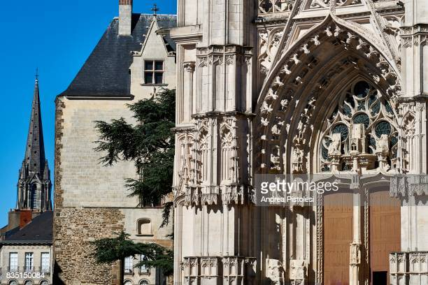 cathedral of nantes, france - kathedrale von nantes stock-fotos und bilder