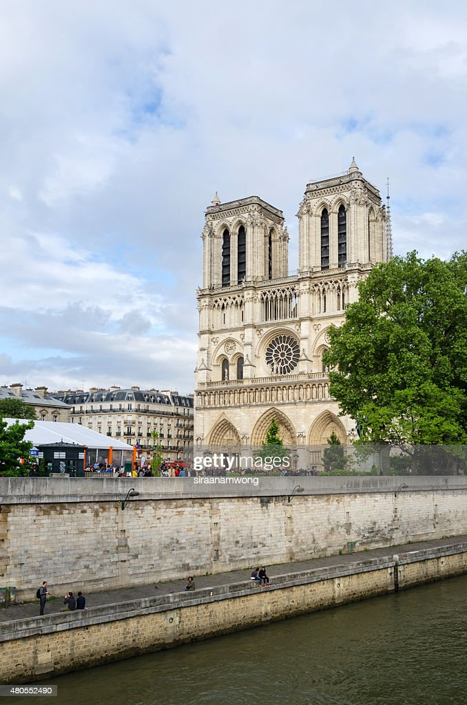 Cathedral of Notre Dame in Paris : Stock Photo