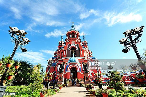 Cathedral of Our Lady of Kazan in Irkutsk,Russia.