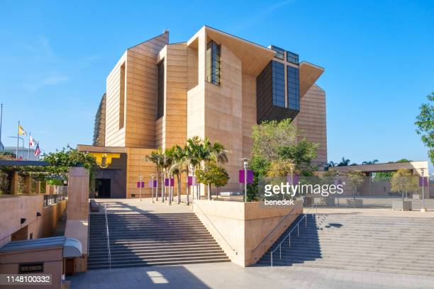 cathedral of our lady of the angels los angeles california - cathedral stock pictures, royalty-free photos & images