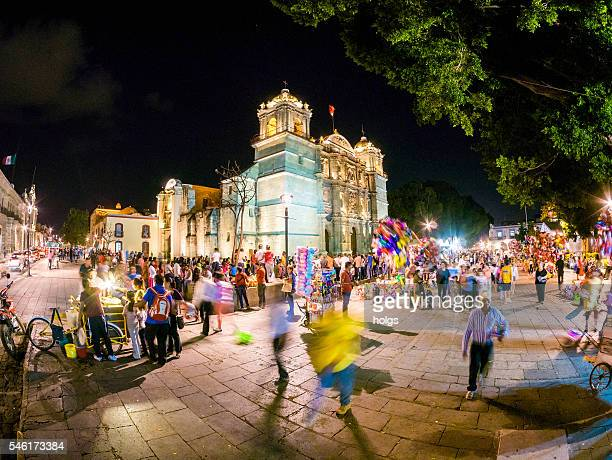 cathedral of our lady of the assumption in oaxaca, mexico - oaxaca stock pictures, royalty-free photos & images