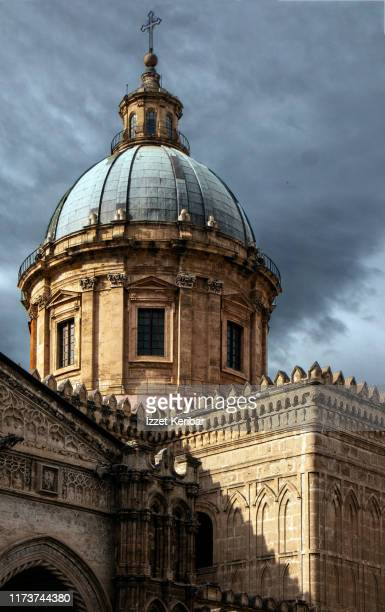 dome great palermo cathedral close image