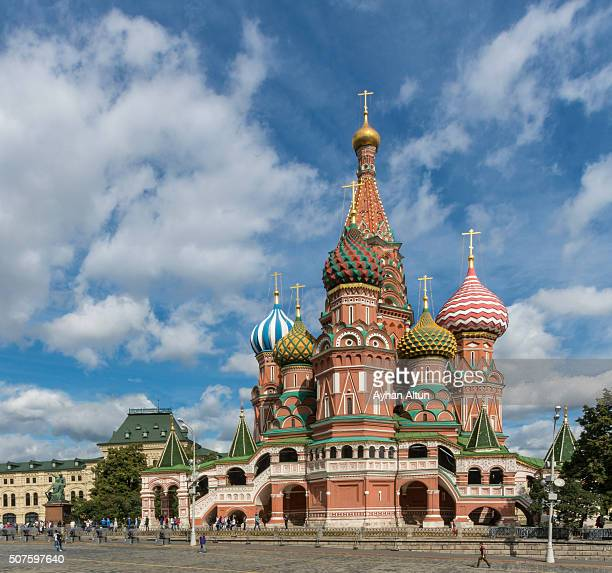 Cathedral of Saint Basil the Blessed in Red Square  in Moscow,Russia