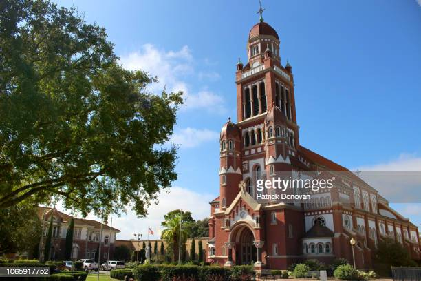 cathedral of saint john the evangelist, lafayette, louisiana - lafayette louisiana stock pictures, royalty-free photos & images