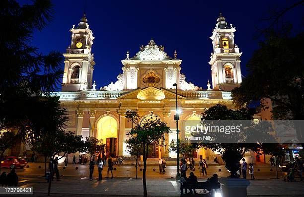 cathedral of salta - salta argentina stock photos and pictures