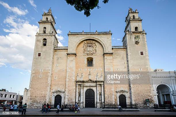 cathedral of san ildefonso, merida, mexico - ogphoto stock pictures, royalty-free photos & images