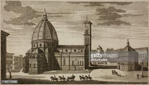 Cathedral of Santa Maria del Fiore Florence Italy engraving from Guida della citta di Firenze ornata di pianta e vedute Florence