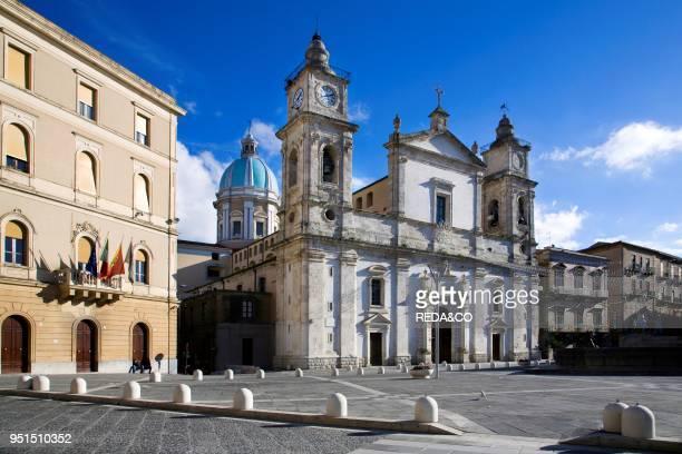 Cathedral of Santa Maria la Nova Garibaldi square Caltanissetta Sicily Italy Europe