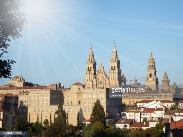 cathedral of santiago de compostela - cattedrale di san giacomo a santiago di compostela foto e immagini stock