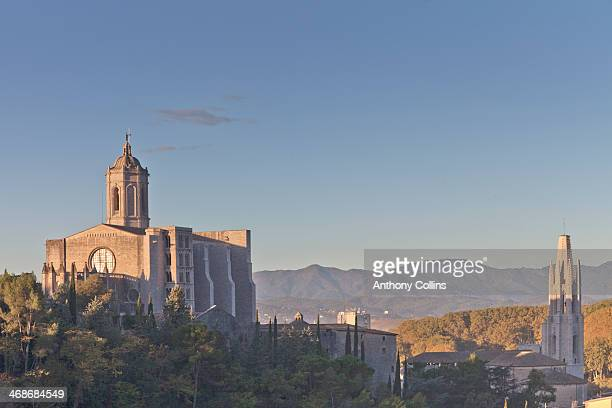Cathedral of St Mary Girona and St Feliu church