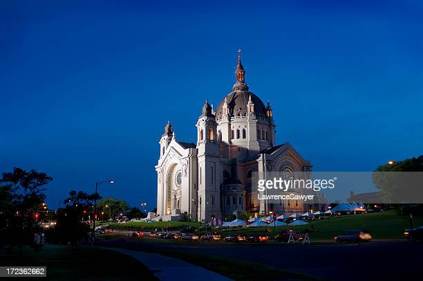 cathedral of st. paul, minnesota - cathedral stock pictures, royalty-free photos & images