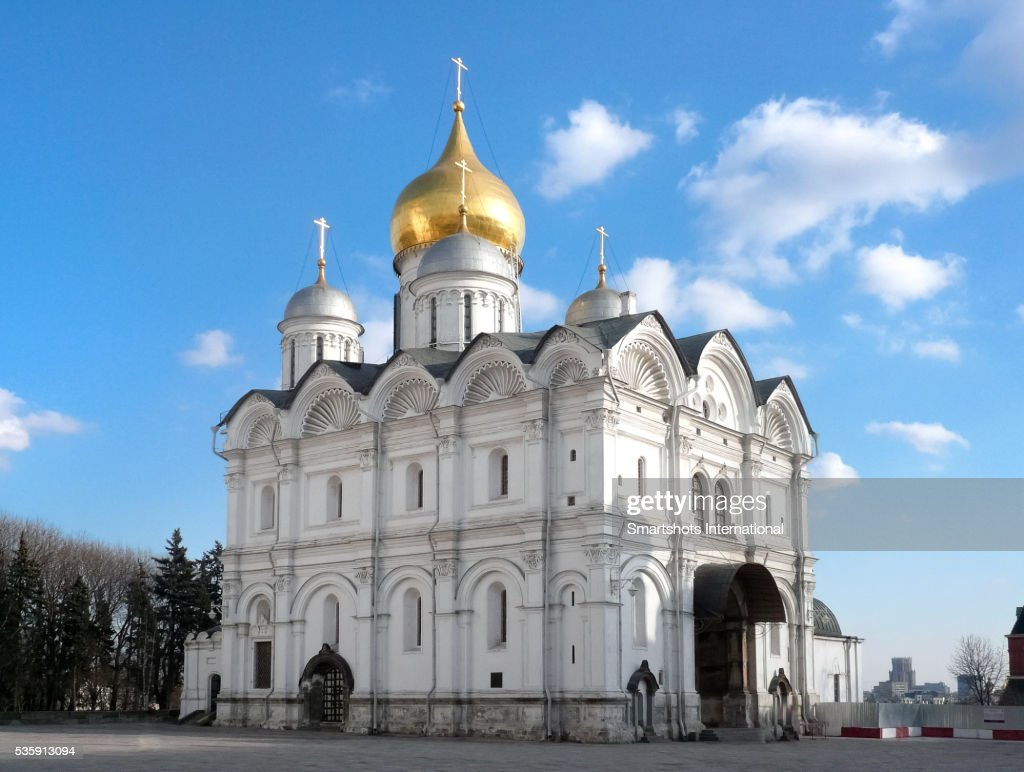 Cathedral of the Archangel located in 'Cathedral Square' inside Moscow's Kremlin in Russia : Stock Photo