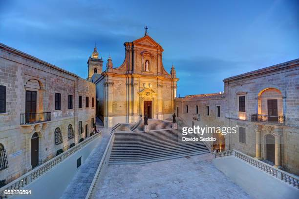 cathedral of the assumption in the cittadella of victoria in gozo - insel gozo malta stock-fotos und bilder