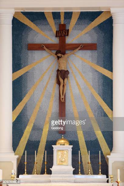 Cathedral of the Good Shepherd Jesus on the cross The crucifixion Singapore