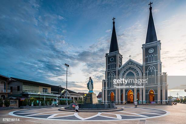 cathedral of the immaculate conception - chanthaburi stock pictures, royalty-free photos & images