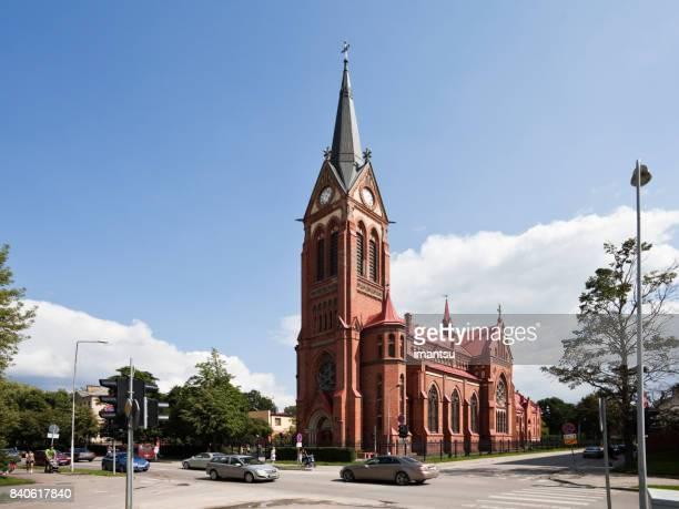 catedral de la inmaculada virgen maría en jelgava - mary moody fotografías e imágenes de stock