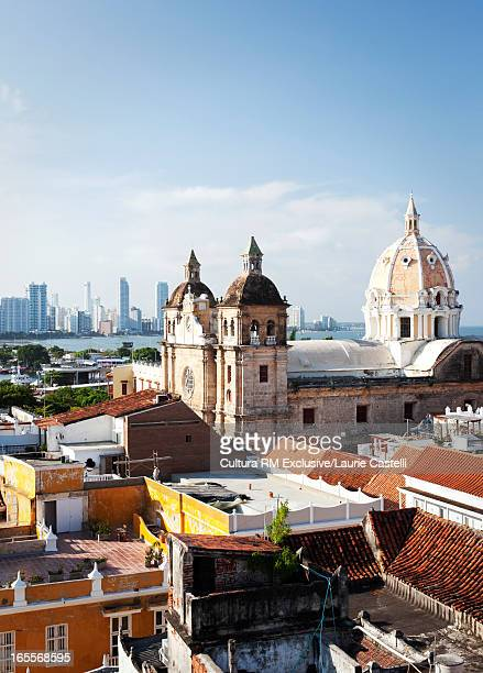 Cathedral overlooking Cartagena rooftops