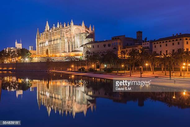 cathedral reflection - palma maiorca - fotografias e filmes do acervo