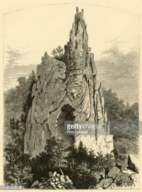 Cathedral Rock' 1872 Rock formation reminiscent of a cathedral West Virginia USA 'a vast minster of the Gothic agesThere is the grand portal with its...