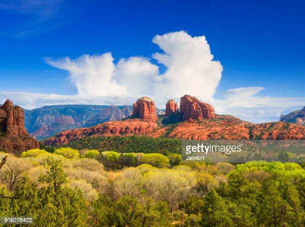 cathedral rock near sedona - arizona stock pictures, royalty-free photos & images
