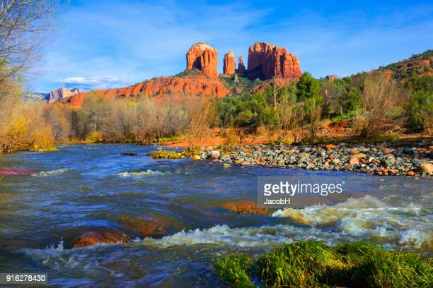 cathedral rock near sedona - red_rock,_nevada stock pictures, royalty-free photos & images