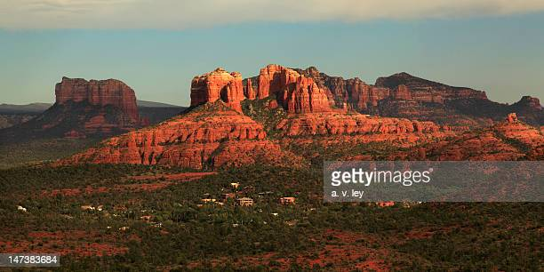 cathedral rocks in sedona, az - sedona stock photos and pictures