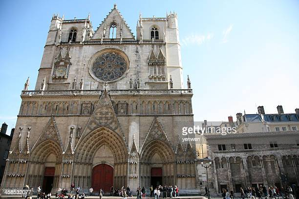cathedral saint jean  in lyon - cathedral stock pictures, royalty-free photos & images