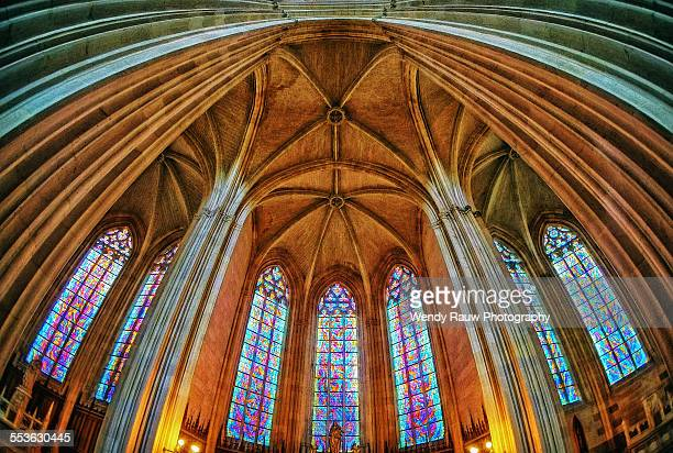 cathedral saint peter and saint paul, nantes, fran - kathedrale von nantes stock-fotos und bilder