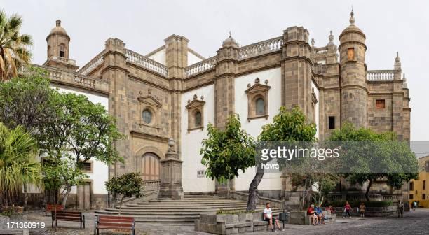 cathedral santa ana in las palmas de gran canaria - las palmas cathedral stock photos and pictures