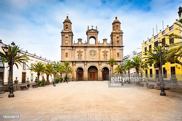 cathedral santa ana las palmas de gran canaria - grand canary stock pictures, royalty-free photos & images