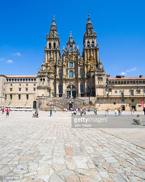 cathedral, santiago de compostela, galicia - santiago de compostela stock pictures, royalty-free photos & images