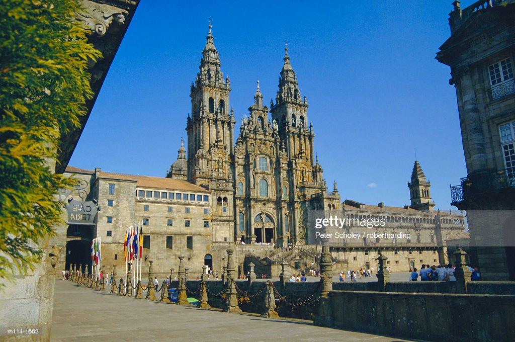 Cathedral, Santiago de Compostela, Galicia, Spain, Europe : Foto de stock